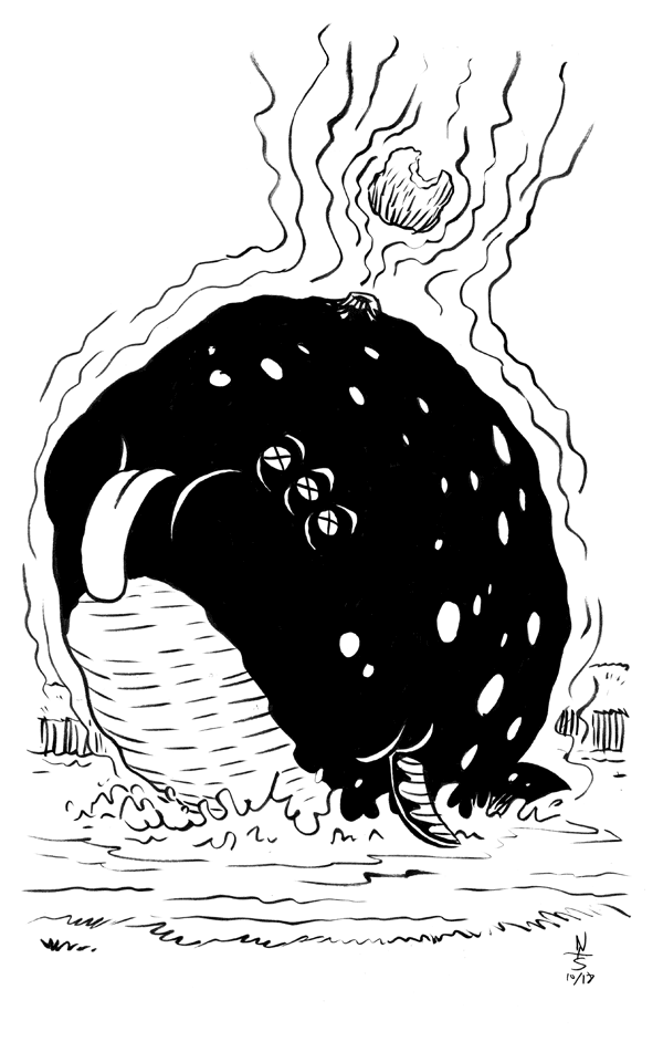 Inktober 17th: Swollen